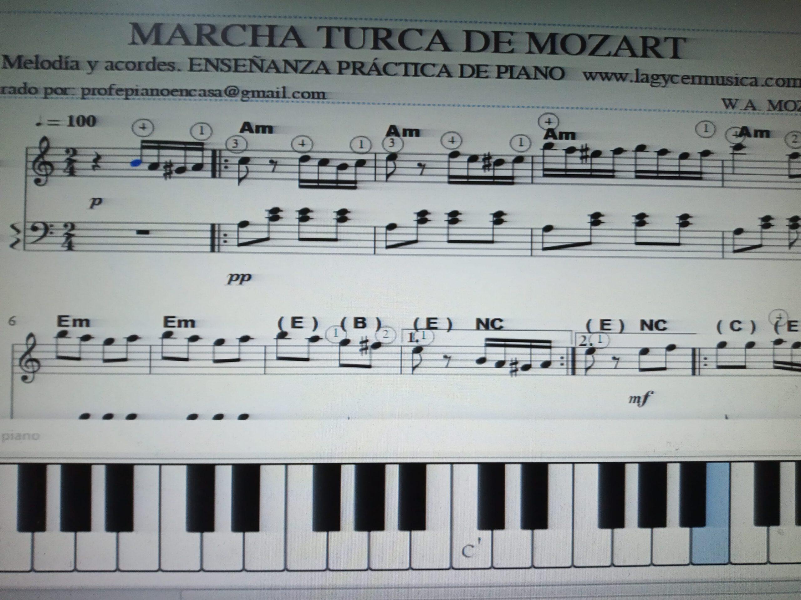 Marcha Turca De Mozart Lagycer Musica